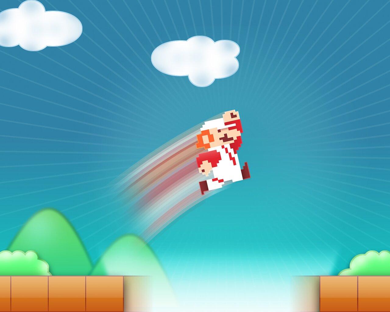 8-bit Super Mario and retro pixels wallpapers