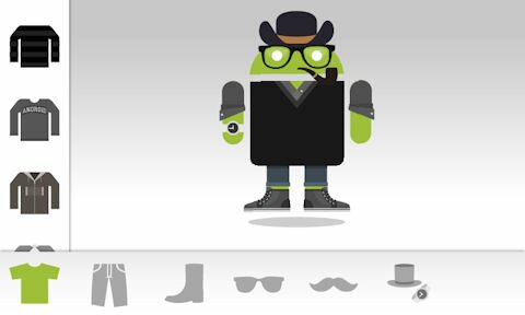 Androidify app by Google and Larva Labs