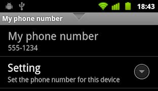How to set your SIM phone number on Android