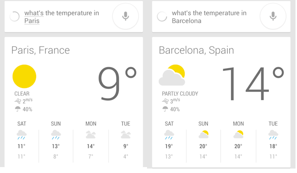 How to make Google Now and Android's Search app show temperatures in either Celsius or Fahrenheit