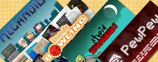 Four free Android games worth playing: Meganoid, Doodle Bowling, Stupid Zombies and PewPew